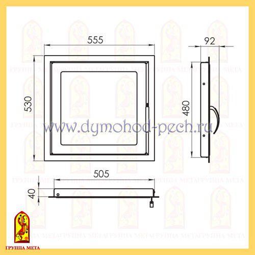 Дверь каминная от группы Мета ДК555-1С схема