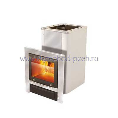 Дровяная печь для бани VIRA 12 П CRYSTAL