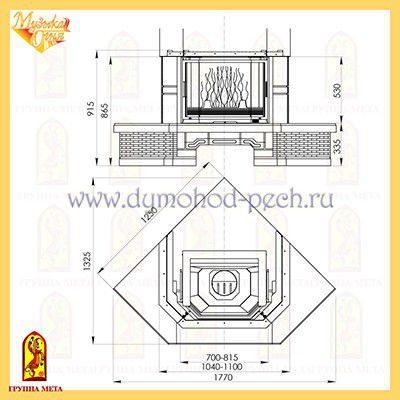 Каминная облицовка Акапелла 700/850, схема