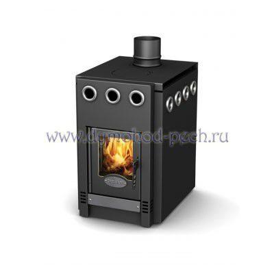 Отопительно-варочная печь ГрейВари 1.100 Screen - длительное горение!