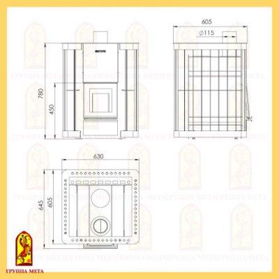 Банная печь Сахалин 20 компакт схема