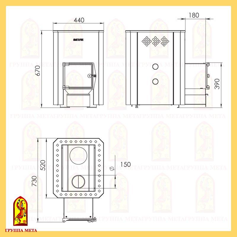 Банная печь Терма 16Т схема