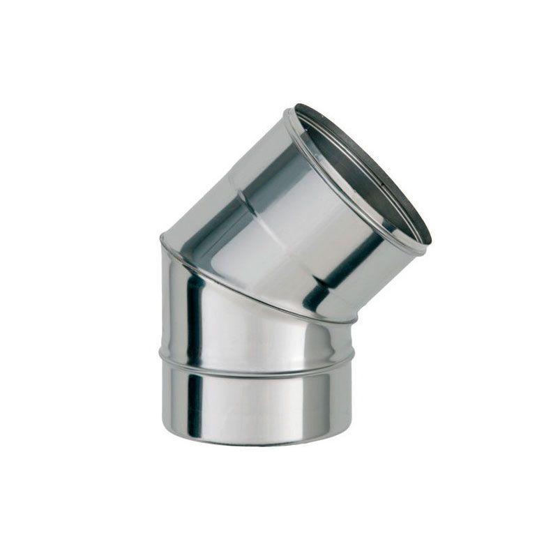 Колено для дымохода 45° 0,6 мм