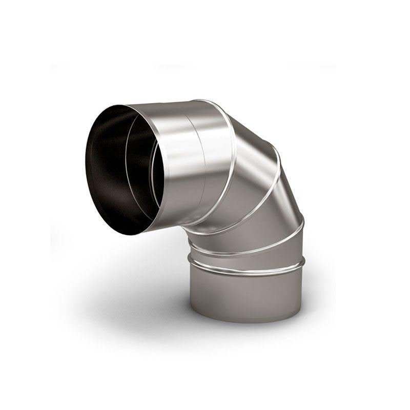 Колено для дымохода 90° 5 секций 0,6 мм