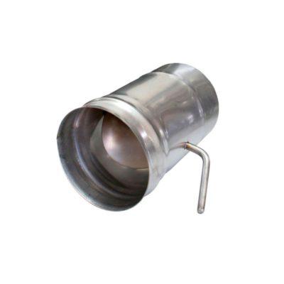 Шибер для дымохода ст.0,6 мм нерж