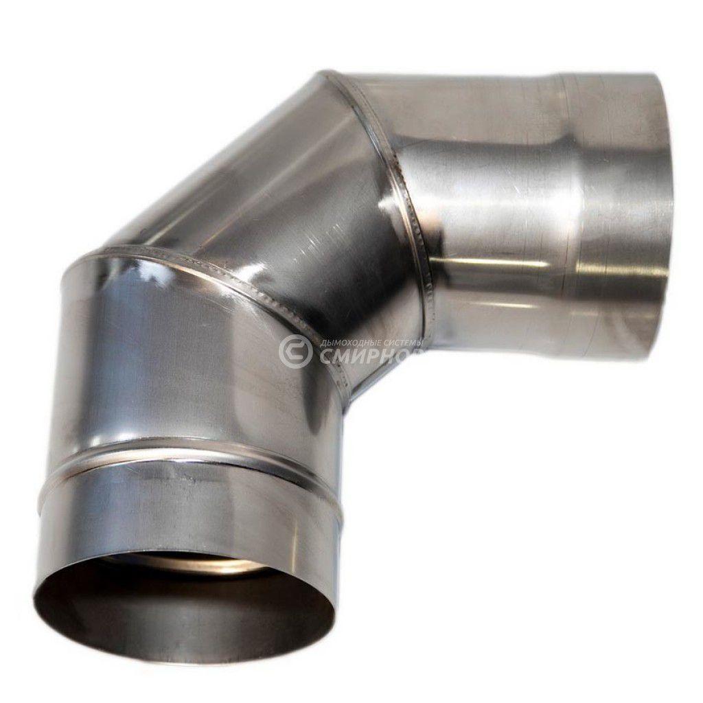 Колено для дымохода 90° ст.1 мм нерж