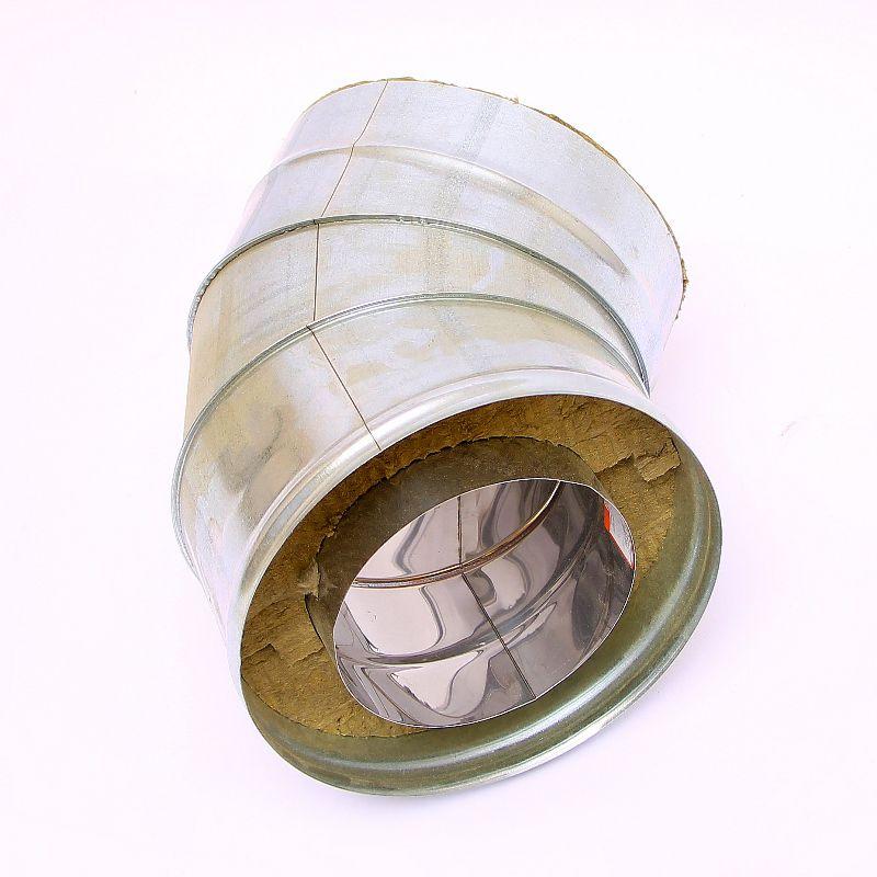 Сэндвич колено для дымохода 45° ст.1 мм нерж./нерж.