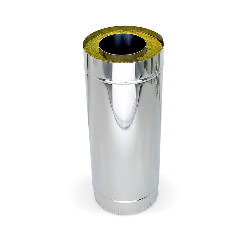 Сэндвич труба для дымохода L0,5m ст.1 мм нерж./нерж.