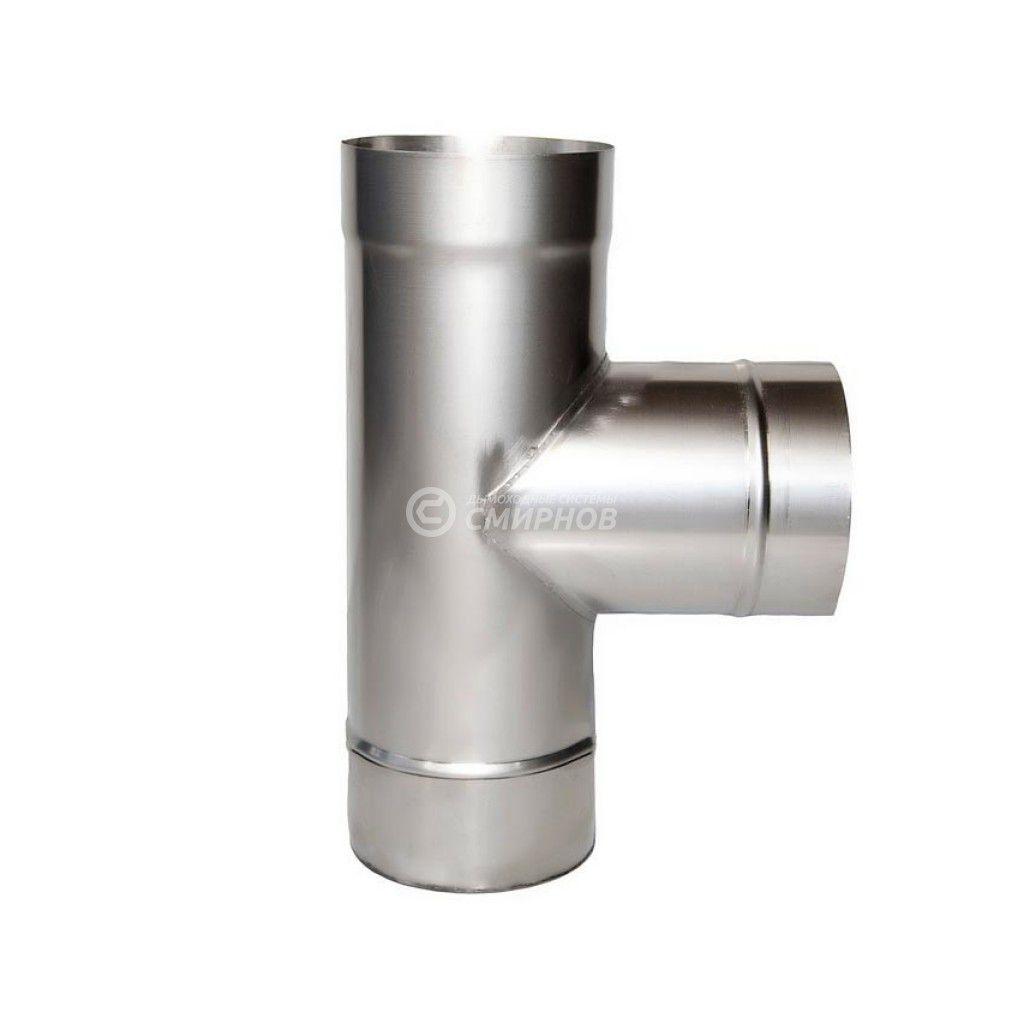 Тройник для дымохода 90° ст.1 мм нерж