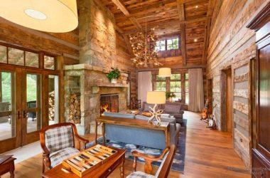 Идеи интерьера деревянного дома