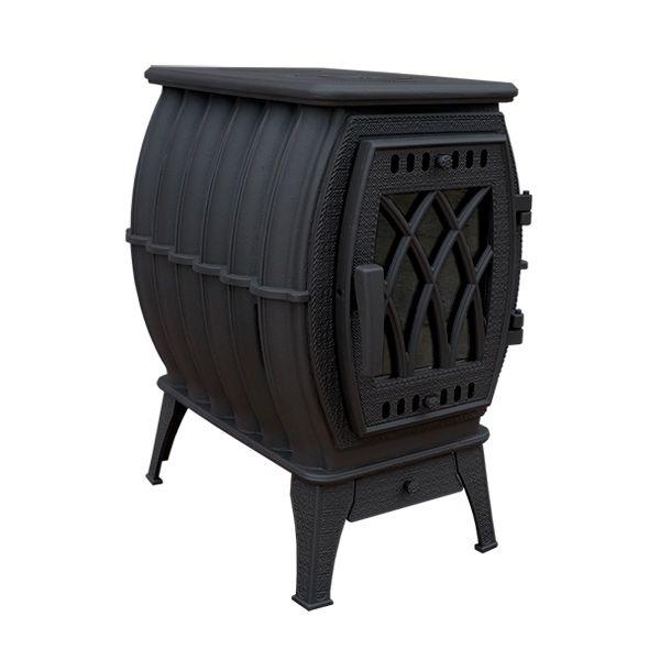 Печь-камин Бахта черная