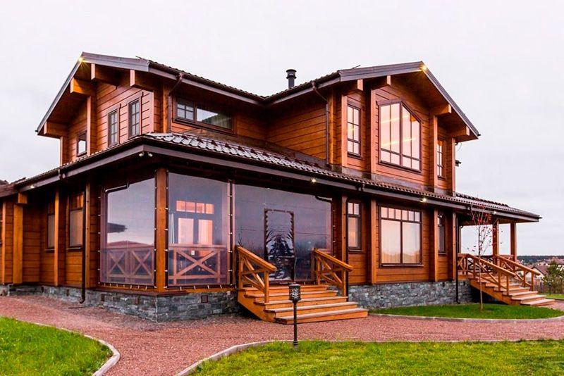 Дома из клеёного бруса