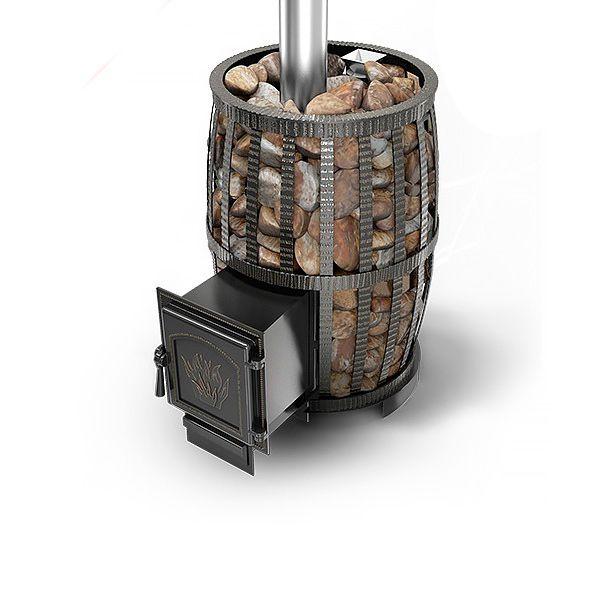Банная чугунная печь Легенда Русский пар ковка 24 (271)