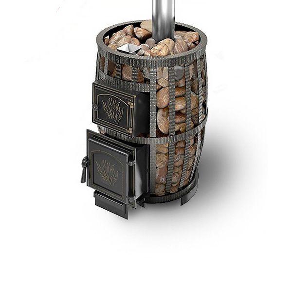 Банная чугунная печь Легенда Русский пар ковка 24 (271) Б/В