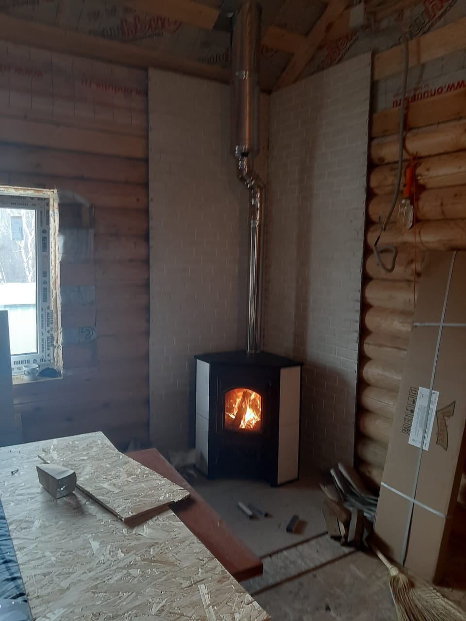 Печь + дымоход Поселок Цюрупы
