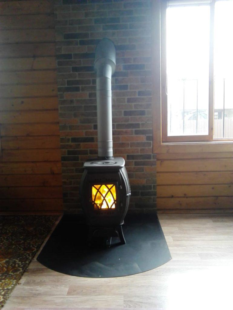 Печь-камин Бахта + дымоход (СНТ Левково 2)