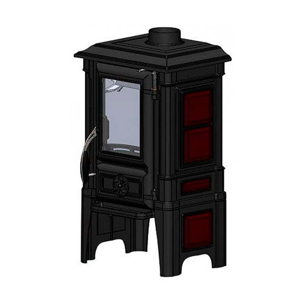 Печь-камин GUCHA Арина 1210 Dark Red чугун